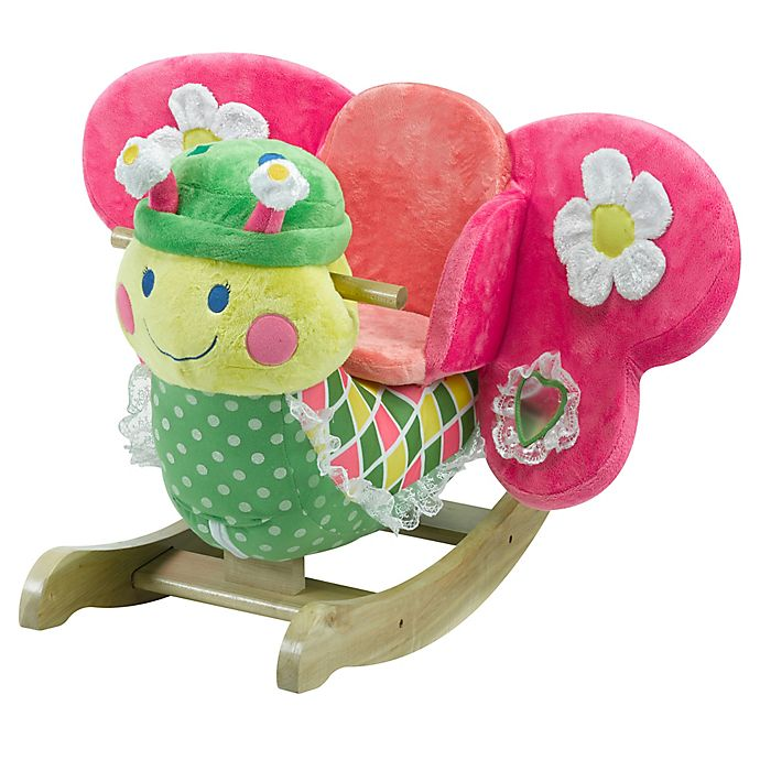 Alternate image 1 for Rockabye™ Bonita Butterfly Musical Chair Rocker