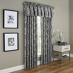 Dogwood Blossom Rod Pocket Room Darkening Window Curtain Panel and Valance