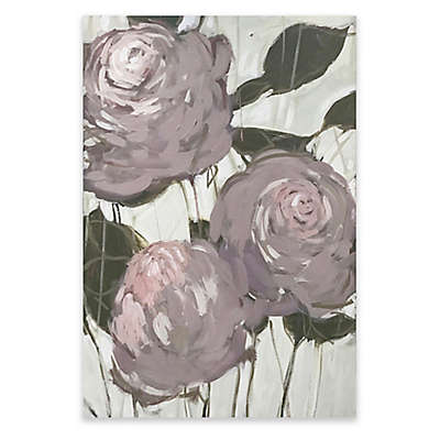 Floral Rose 24-Inch x 36-Inch Canvas Wall Art in Pink