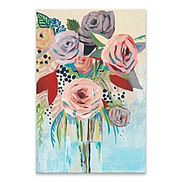 Roseate Posy II 24-Inch x 36-Inch Canvas Wall Art