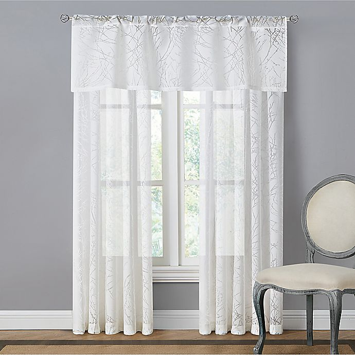 Alternate image 1 for Branchbrook Sheer Window Curtain Panel and Valance