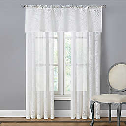 Branchbrook Sheer Window Curtain Panel and Valance