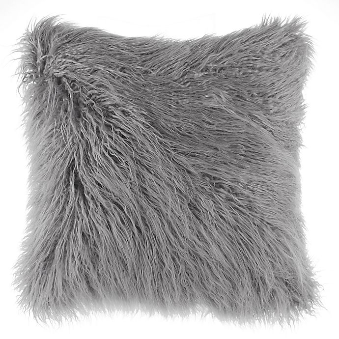 Alternate image 1 for Flokati Faux Fur European Throw Pillow