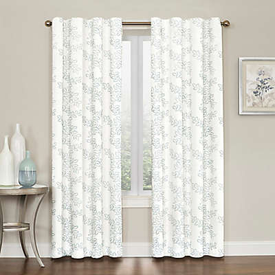 Brielle Embroidery Rod Pocket/Back Tab Window Curtain Panel