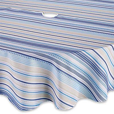 Sam Hedaya Monaco Stripe Tablecloth in Blue