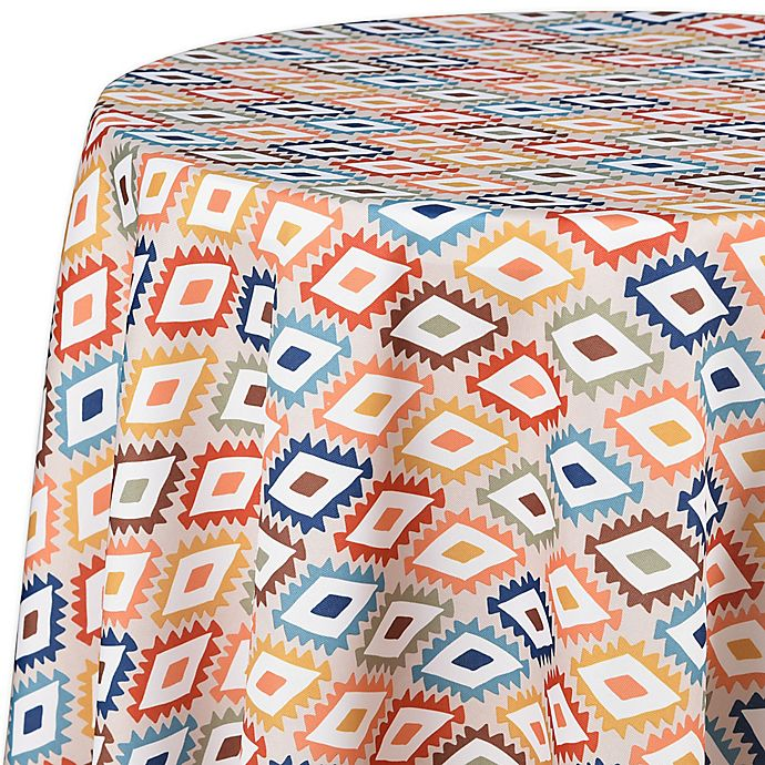 Diamond Indoor Outdoor Round Tablecloth