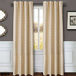 Sawyer Geo 63-Inch Rod Pocket/Back Tab Window Curtain Panel in Ivory