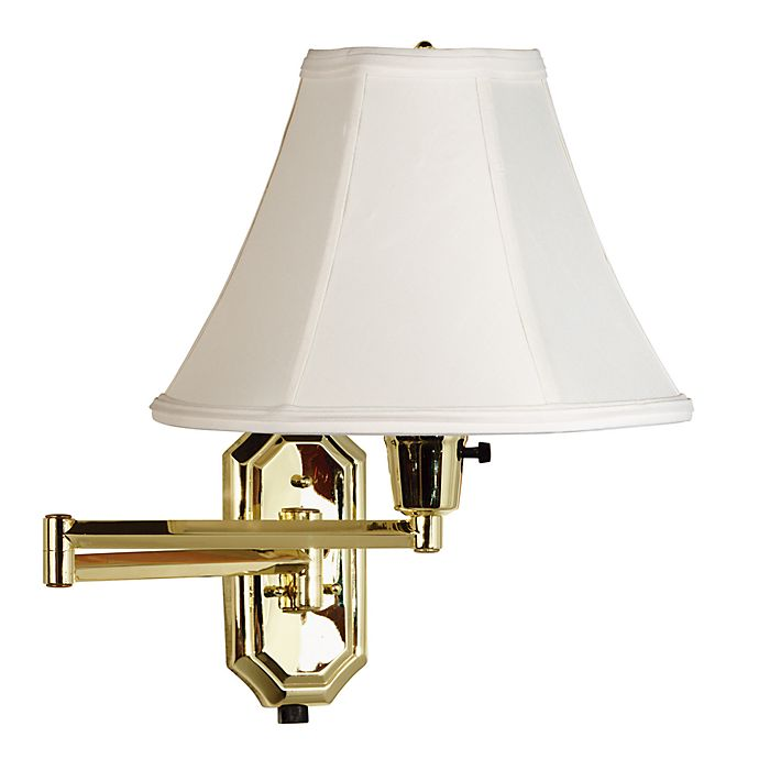 Alternate image 1 for Kenroy Home Brass Swing Arm Sconce Lamp with Bell Shade