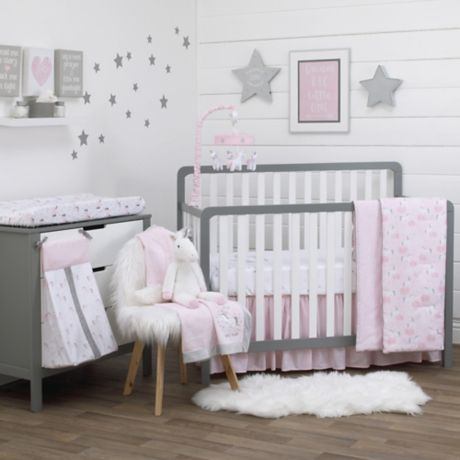 Nojo 174 Unicorn 4 Piece Crib Bedding Set Bed Bath Amp Beyond