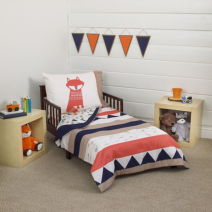 Alternate image 1 for carter's® Aztec 4-Piece Toddler Bedding Set in Navy