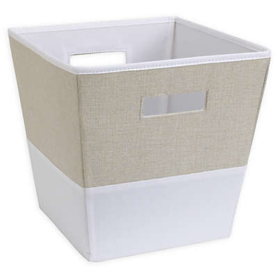 NoJo® 2-Tone Fabric Storage Bin in Oatmeal/Ivory