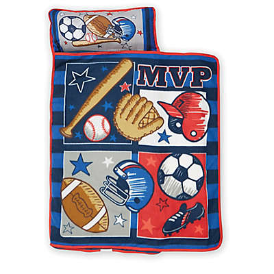 Baby Boom MVP Sports Toddler Nap Mat in Blue