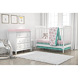 Little Seeds 4-Piece Cora Crib Bedding Set in Pink