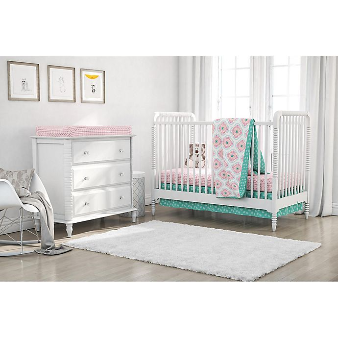 Alternate image 1 for Little Seeds 4-Piece Cora Crib Bedding Set in Pink