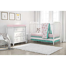 Little Seeds 4-Piece Cora Crib Bedding Set in Pink
