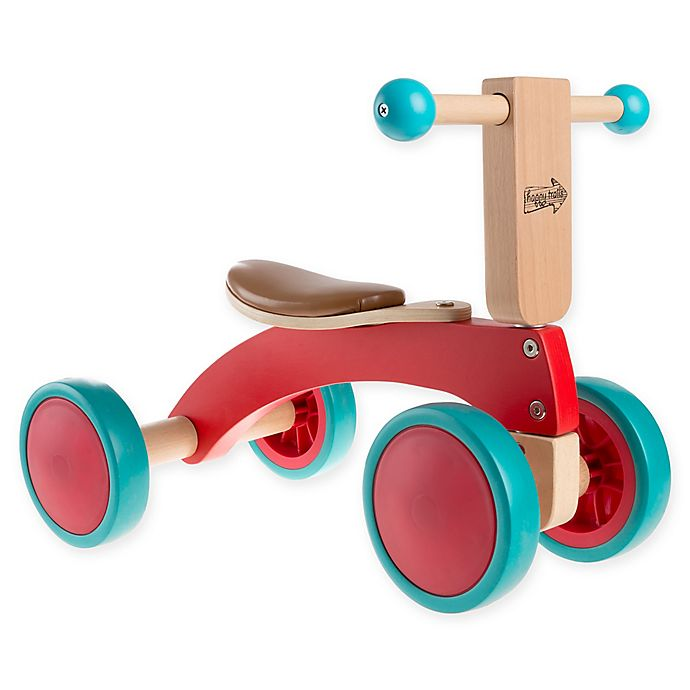 Alternate image 1 for Happy Trails Walk and Ride Wooden Ride-On Trike in Red
