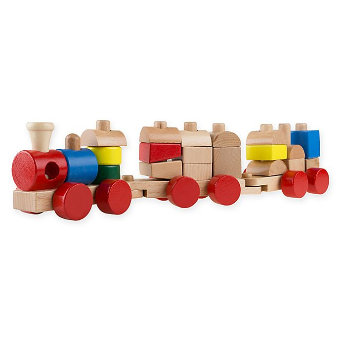 Alternate image 1 for Hey! Play! Wooden Toy Stacking Learning Train