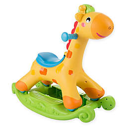 Happy Trails Musical Learning Rocking Horse in Yellow