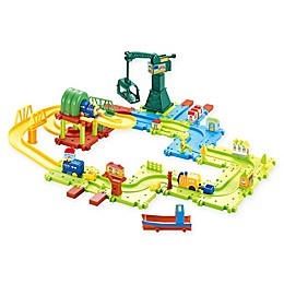 Hey! Play! 58-Piece Toy Train Set in Green