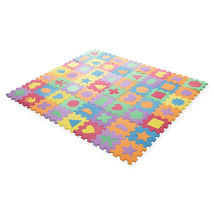 Alternate image 1 for Hey! Play! Foam Floor Shapes Puzzle Learning Mat