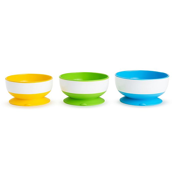 Alternate image 1 for Munchkin® 3-Pack Suction Bowls
