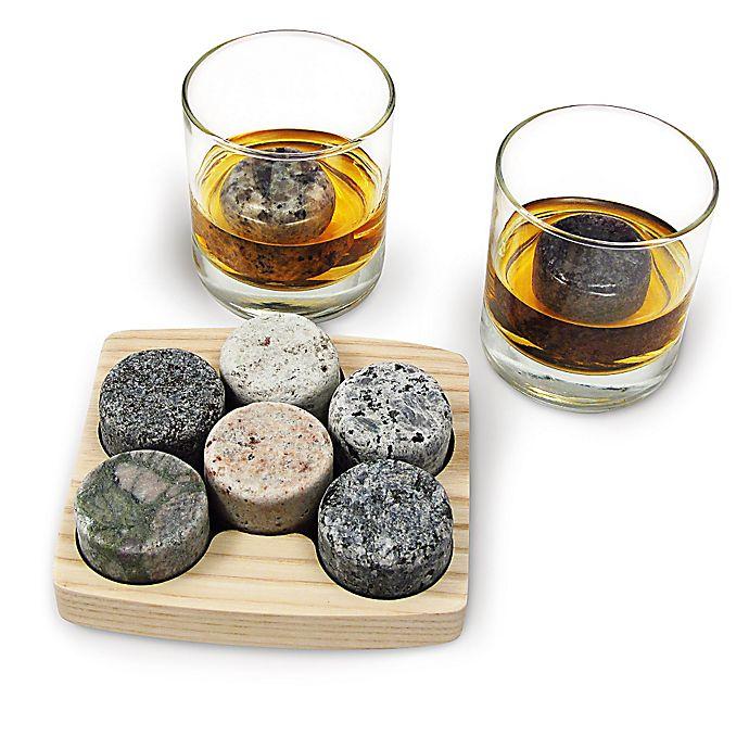 Alternate image 1 for Sea Stones™ On The Rocks Granite Drink Chillers (Set of 6)