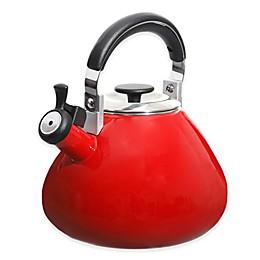 Mr. Coffee® 3 qt. Belly Shape Enamel on Steel Tea Kettle in Red