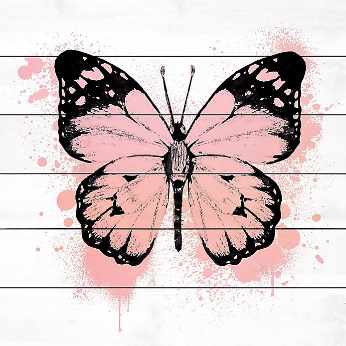 Alternate image 1 for Marmont Hill Butterfly 24-Inch Square Wood Wall Art