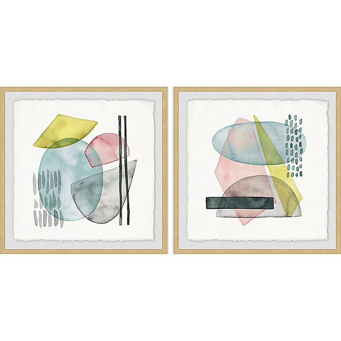Alternate image 1 for Marmont Hill Sushi Bowl 36-Inch x 18-Inch Framed Diptych Wall Art