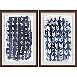 Marmont Hill 2-Piece Boho Patterns Framed Wall Art Set