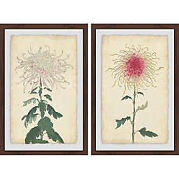 Marmont Hill Spaghetti Blooms Framed Diptych Wall Art