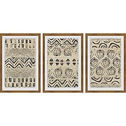 Marmont Hill Pattern Bazaar Framed Triptych Wall Art