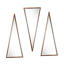 Holly & Martin® Wykes 11-Inch x 28-Inch Mirrors in Champagne (Set of 3)