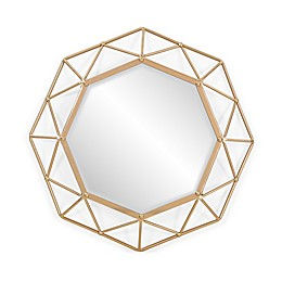 Southern Enterprises Velden 25-Inch Round Mirror in Gold