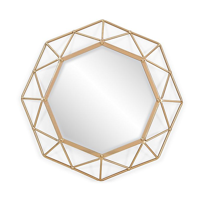 Alternate image 1 for Southern Enterprises Velden 25-Inch Round Mirror in Gold