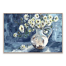 Sunshine and Daisies Landscape 24.88-Inch x 36.88-Inch Framed Wall Art