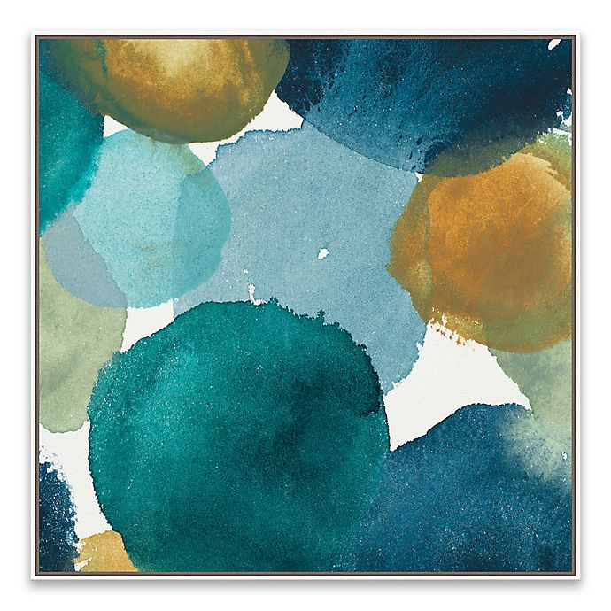 Alternate image 1 for Teal Watermarks II 21.88-Inch Square Canvas Wall Art