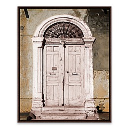 Toned Vintage Door 21-Inch x 17-Inch Framed Wall Art