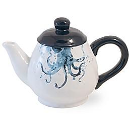 Boston International Under the Sea Teapot in Blue/Cream