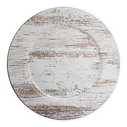 ChargeIt! by Jay Birch Wood Charger Plate in White