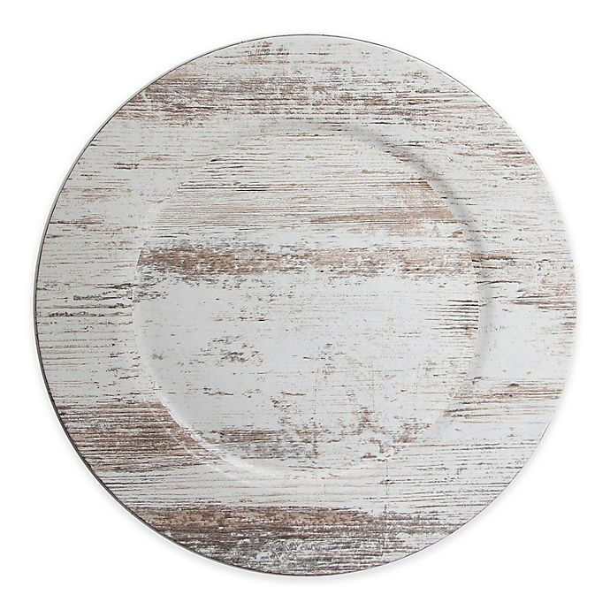 Alternate image 1 for ChargeIt! by Jay Birch Wood Charger Plate in White