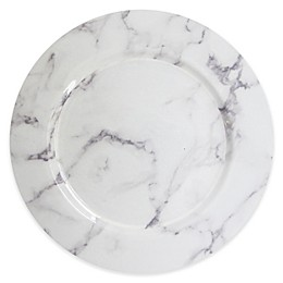 ChargeIt! by Jay Marble 13-Inch Charger Plate in White/Grey