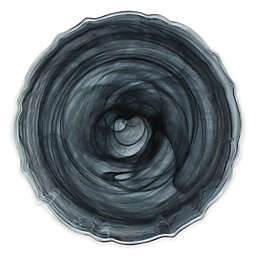 ChargeIt! by Jay Alabaster Scallop Charger Plate in Black/Silver