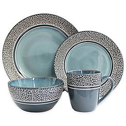 American Atelier Mosaic 16-Piece Dinnerware Set in Blue
