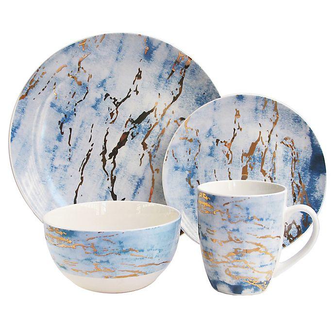 Alternate image 1 for American Atelier Marble 16-Piece Dinnerware Set