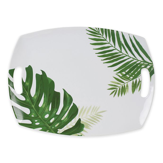 Alternate image 1 for Everyday White® by Fitz and Floyd Palm Rectangular Serving Platter