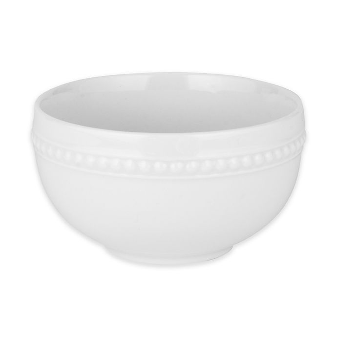 Alternate image 1 for Everyday White® by Fitz and Floyd® Beaded Fruit Bowl