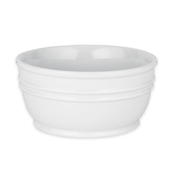 Alternate image 1 for Everyday White® by Fitz and Floyd® Banded Bowl