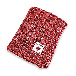Stonewashed Throw Blanket in Red