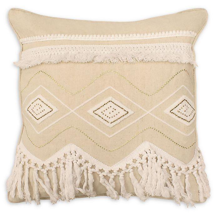 Alternate image 1 for Boho Living Nia Decorative Pillow in Off White